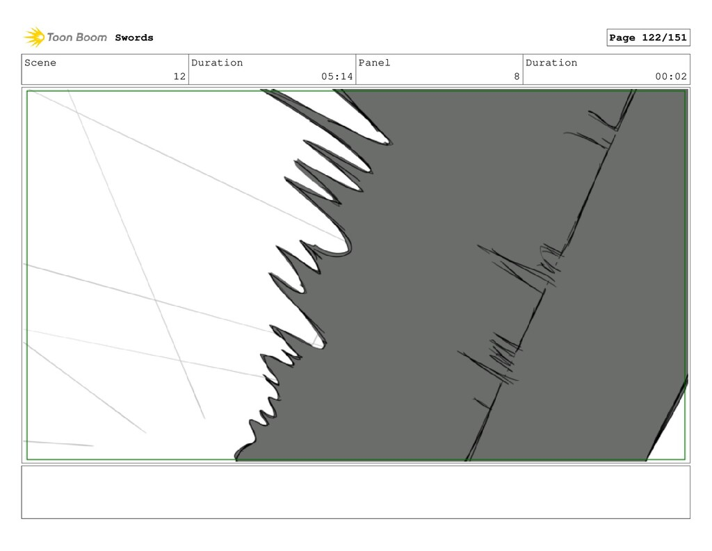 Scene 12 Duration 05:14 Panel 8 Duration 00:02 ...