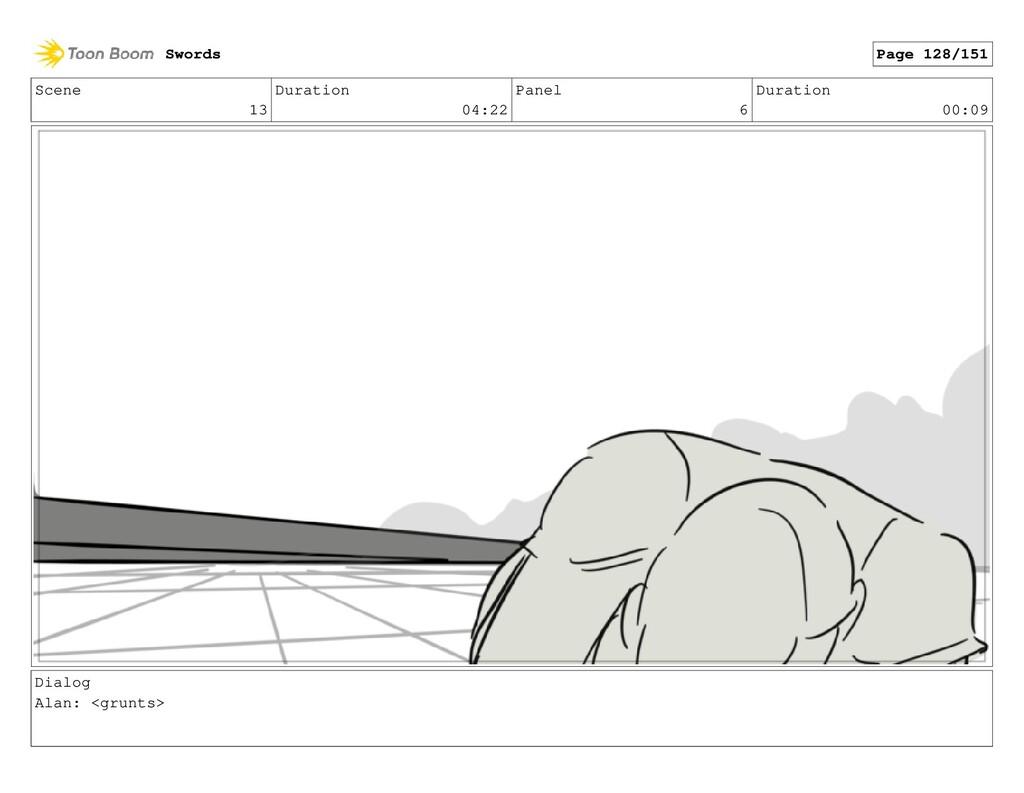 Scene 13 Duration 04:22 Panel 6 Duration 00:09 ...