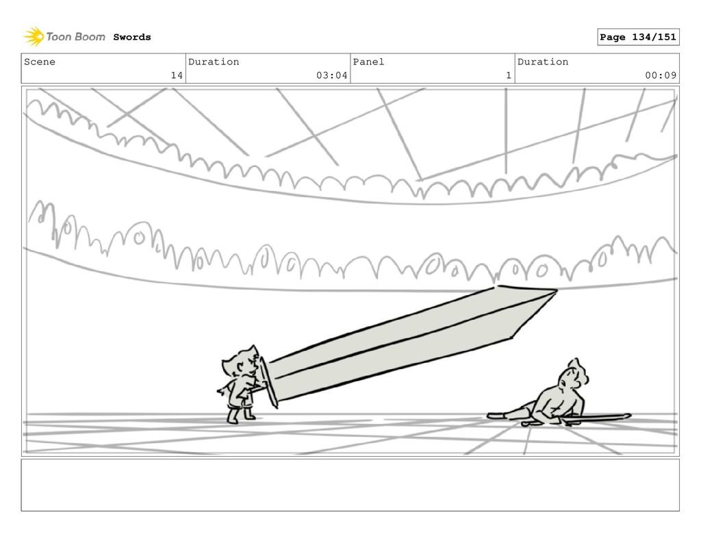 Scene 14 Duration 03:04 Panel 1 Duration 00:09 ...