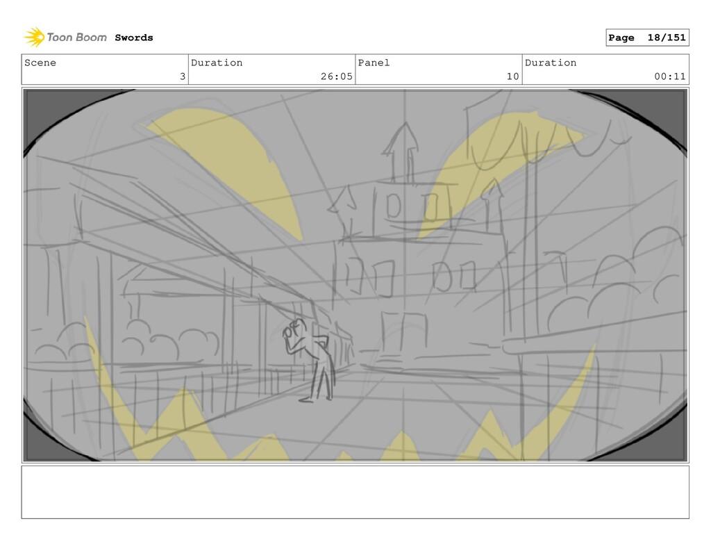 Scene 3 Duration 26:05 Panel 10 Duration 00:11 ...