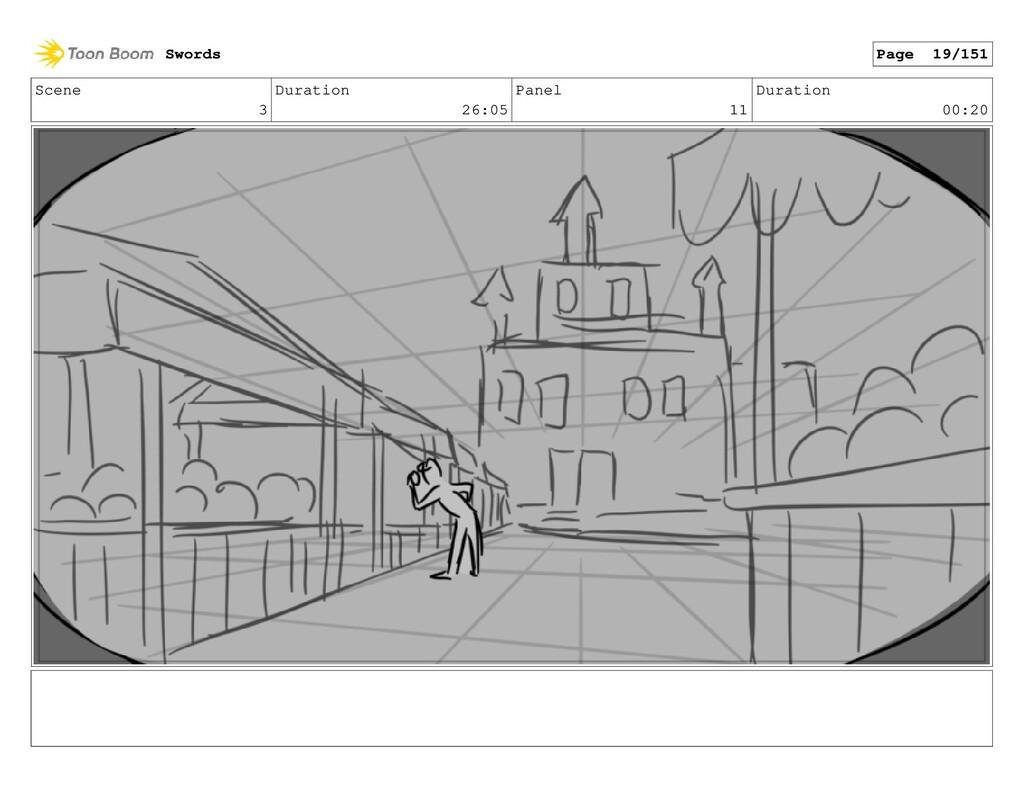 Scene 3 Duration 26:05 Panel 11 Duration 00:20 ...