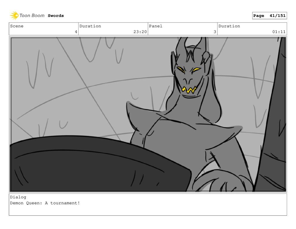 Scene 4 Duration 23:20 Panel 3 Duration 01:11 D...