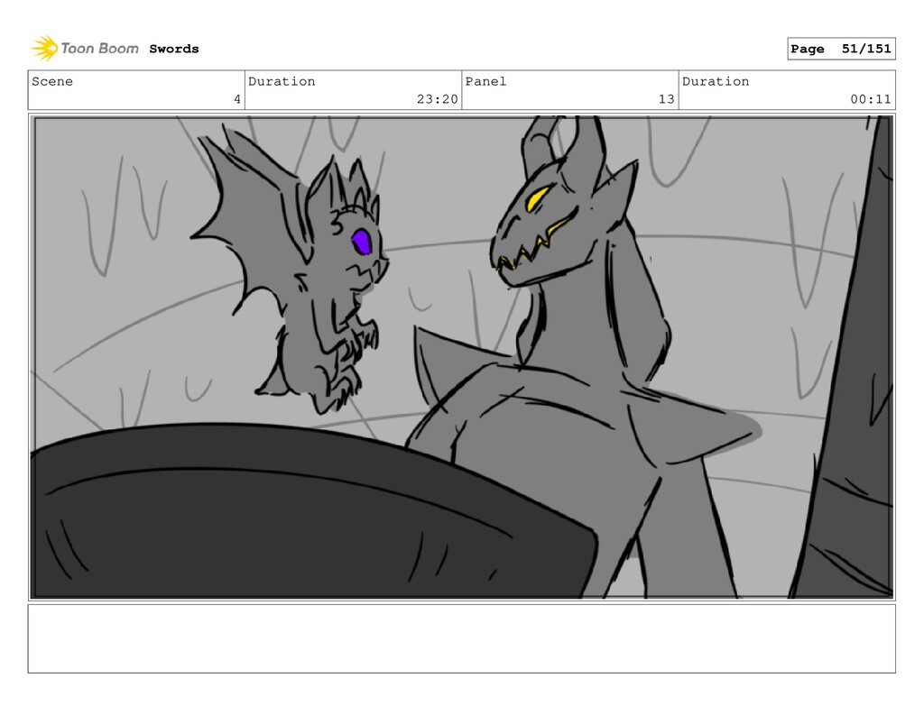Scene 4 Duration 23:20 Panel 13 Duration 00:11 ...