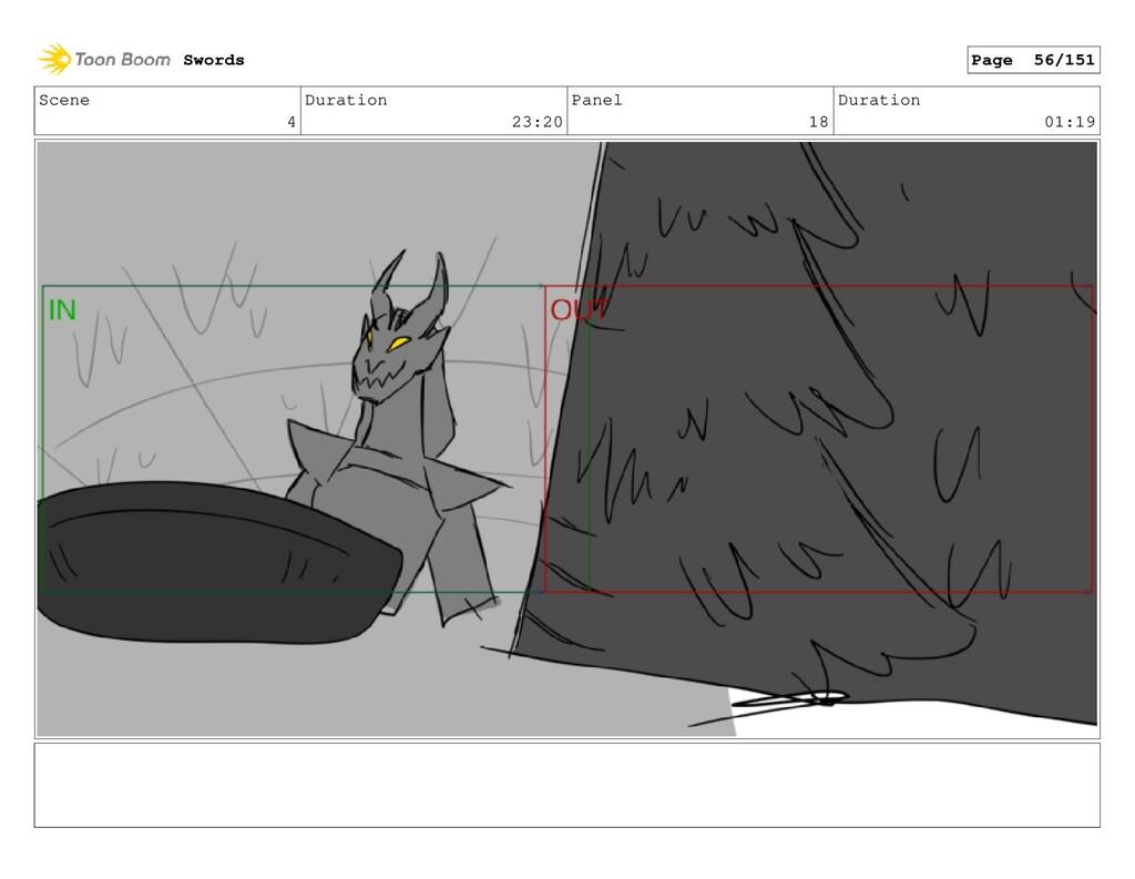 Scene 4 Duration 23:20 Panel 18 Duration 01:19 ...