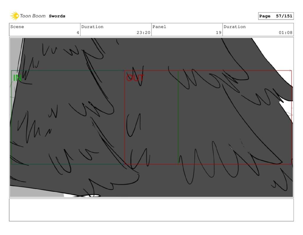 Scene 4 Duration 23:20 Panel 19 Duration 01:08 ...