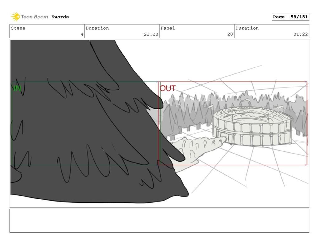Scene 4 Duration 23:20 Panel 20 Duration 01:22 ...