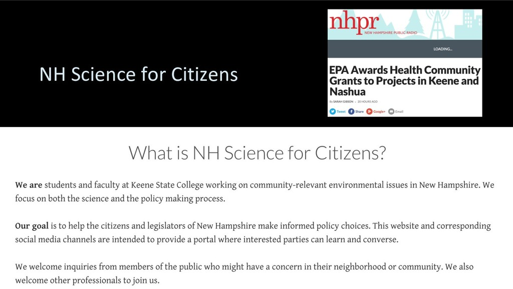 NH Science for Citizens