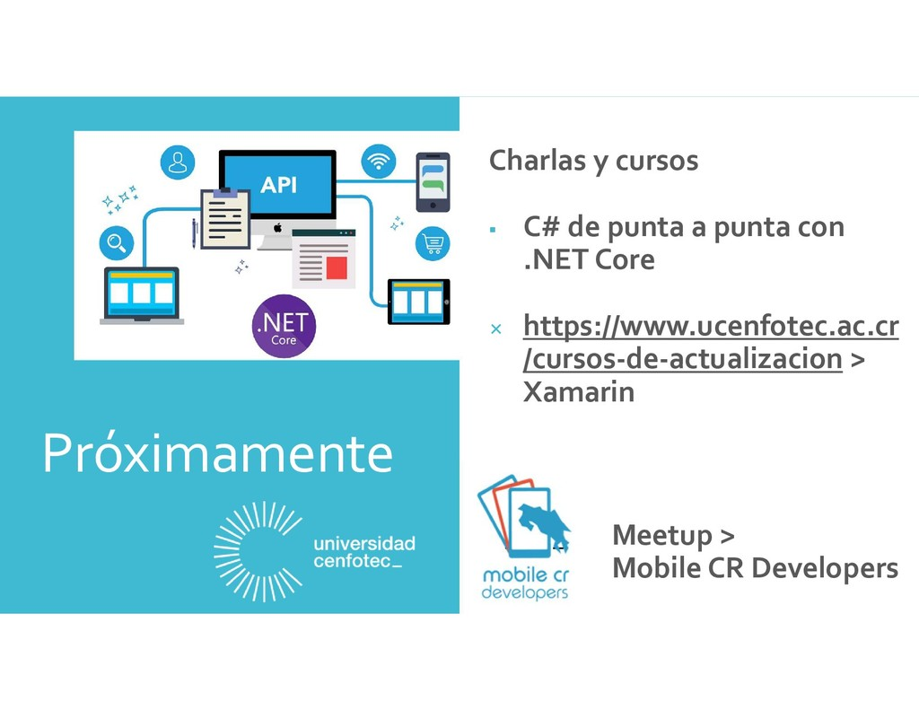 Próximamente Meetup > Mobile CR Developers Char...