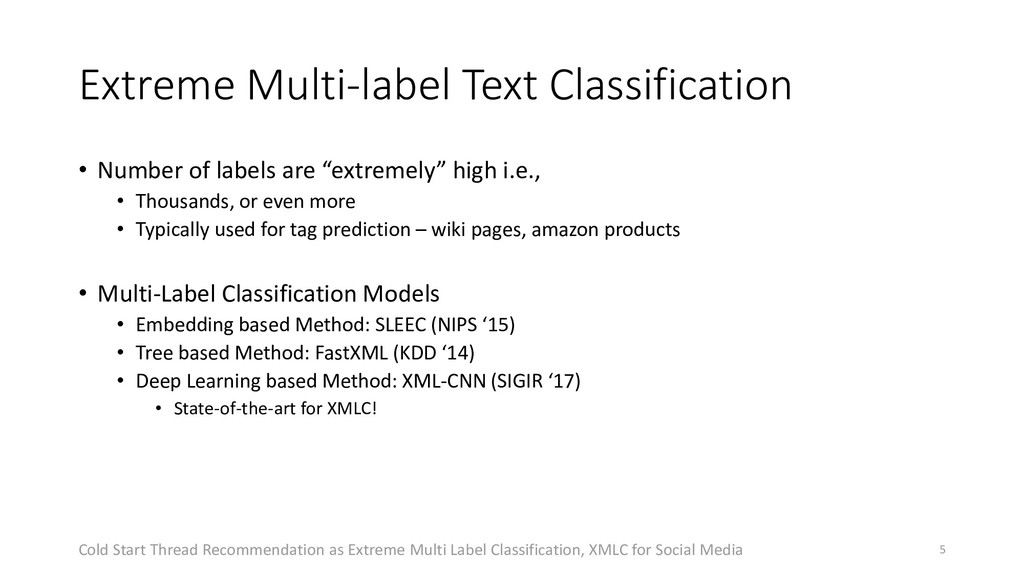 Extreme Multi-label Text Classification • Numbe...