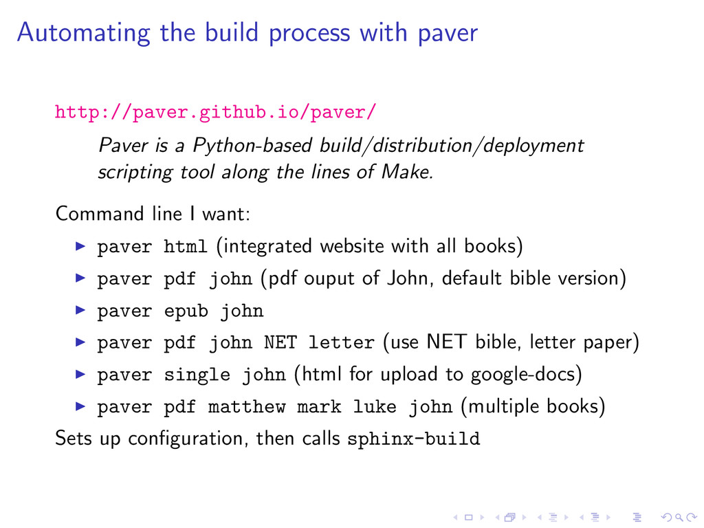 Automating the build process with paver http://...