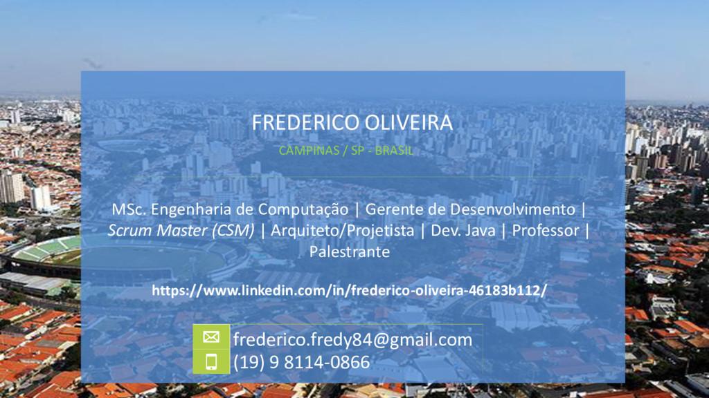 FREDERICO OLIVEIRA MSc. Engenharia de Computaçã...