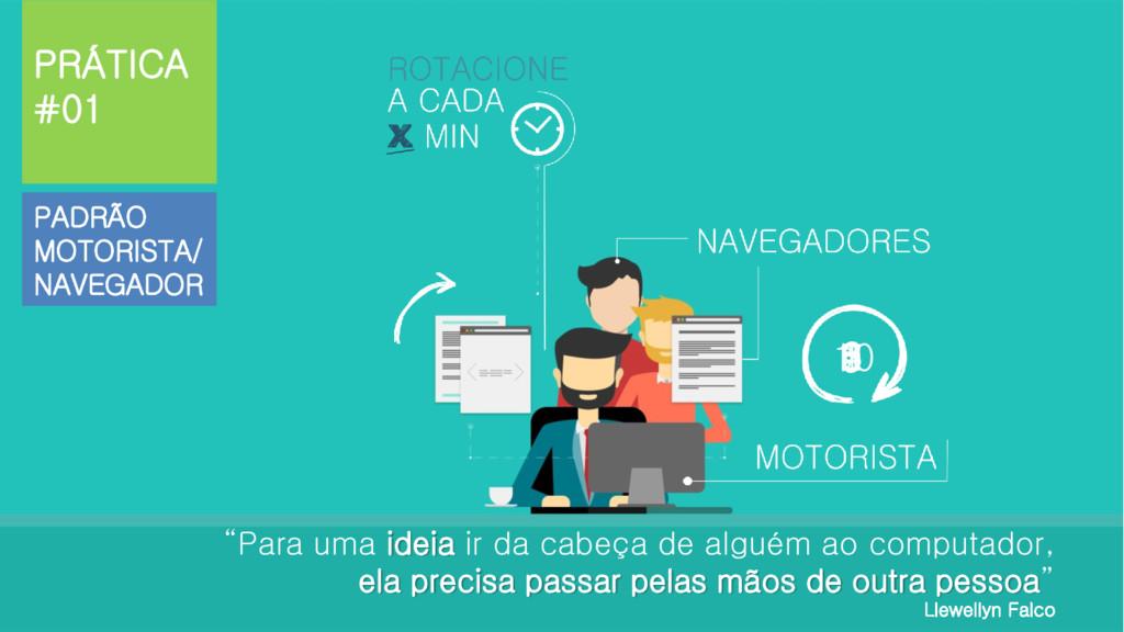 """PADRÃO MOTORISTA/ NAVEGADOR PRÁTICA #01 """"Para u..."""