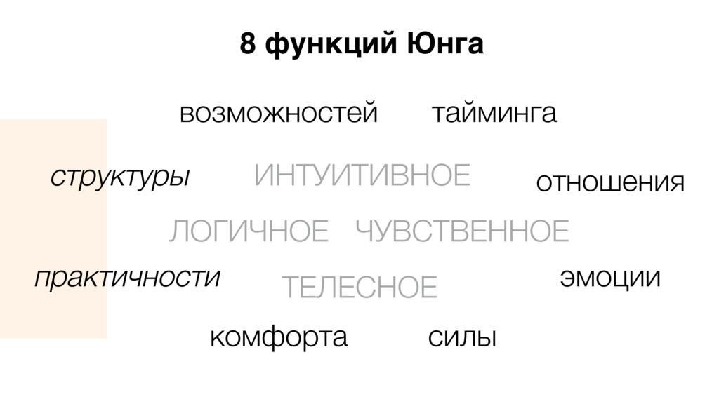 8 функций Юнга ЛОГИЧНОЕ структуры практичности ...