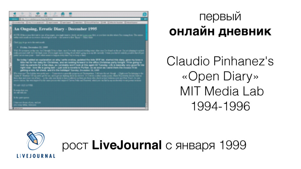 первый онлайн дневник7 ! Claudio Pinhanez's «Op...