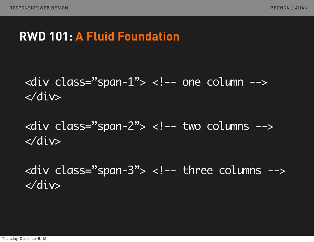 """@BENCALLAHAN RESPONSIVE WEB DESIGN <div class=""""..."""