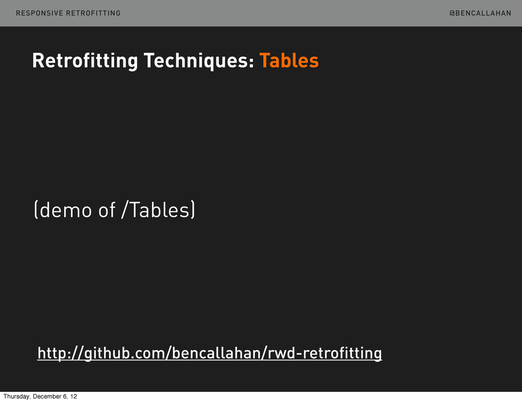 @BENCALLAHAN Retrofitting Techniques: Tables (d...
