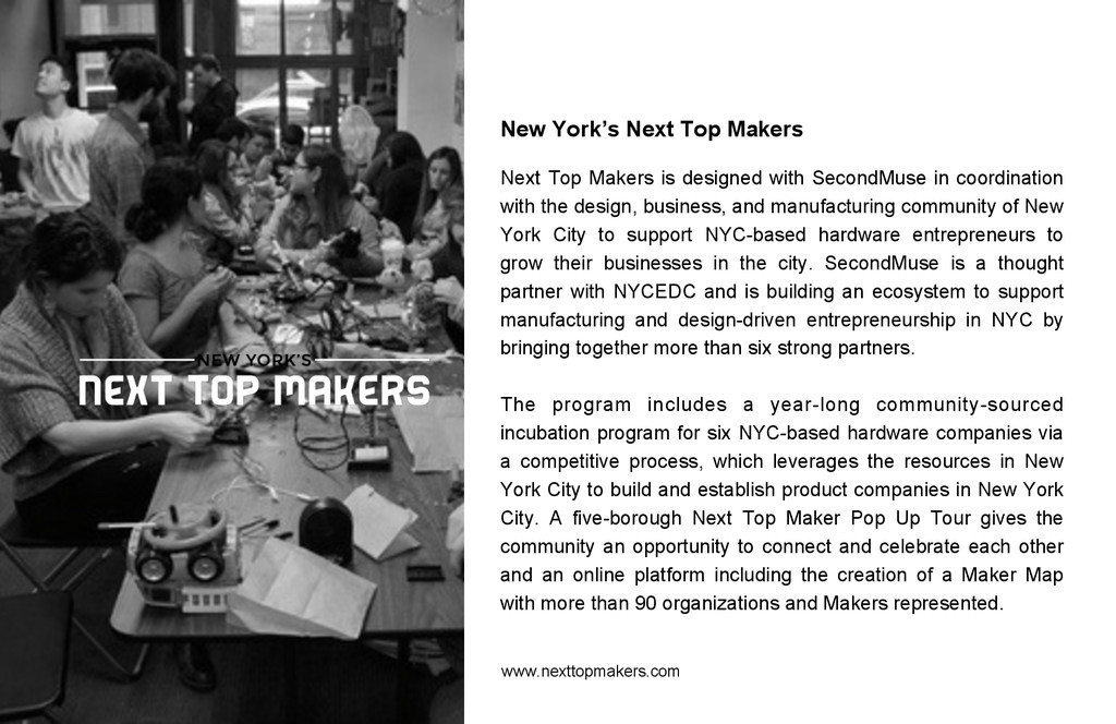 New York's Next Top Makers Next Top Makers is d...