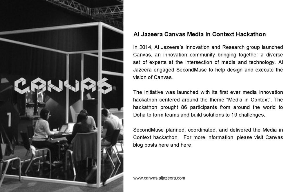 Al Jazeera Canvas Media In Context Hackathon In...