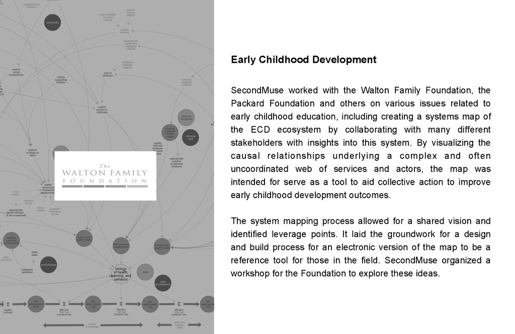 Early Childhood Development SecondMuse worked w...