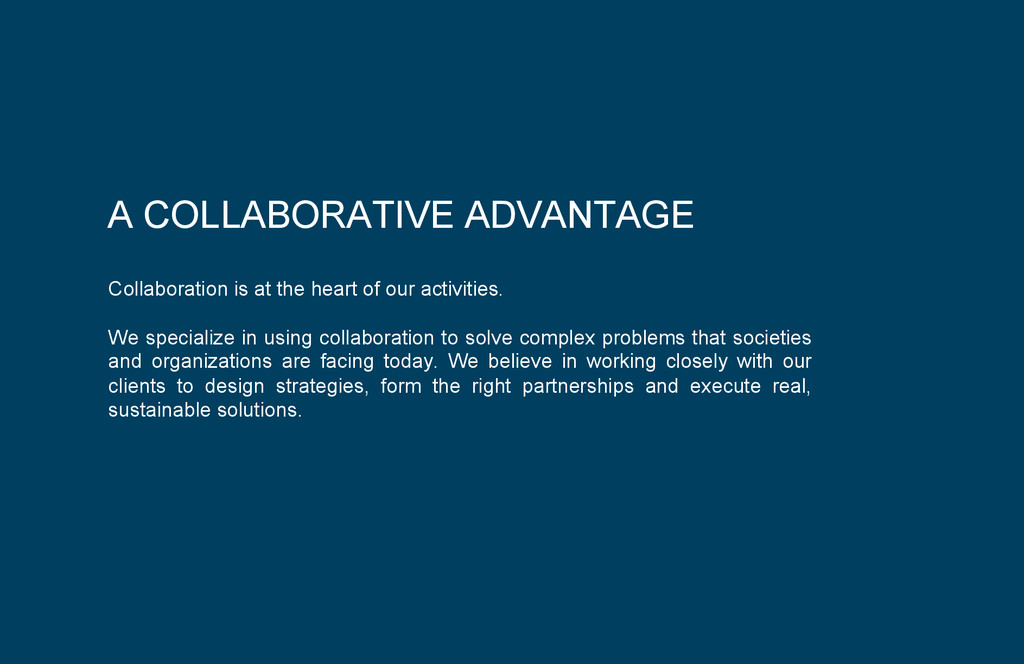 Collaboration is at the heart of our activities...