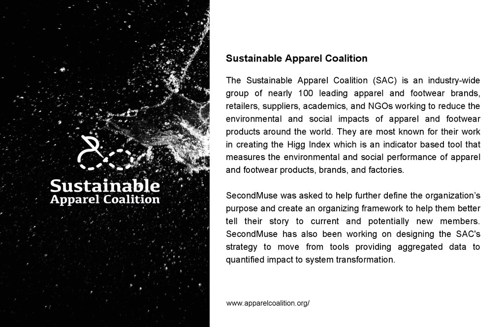 Sustainable Apparel Coalition The Sustainable A...