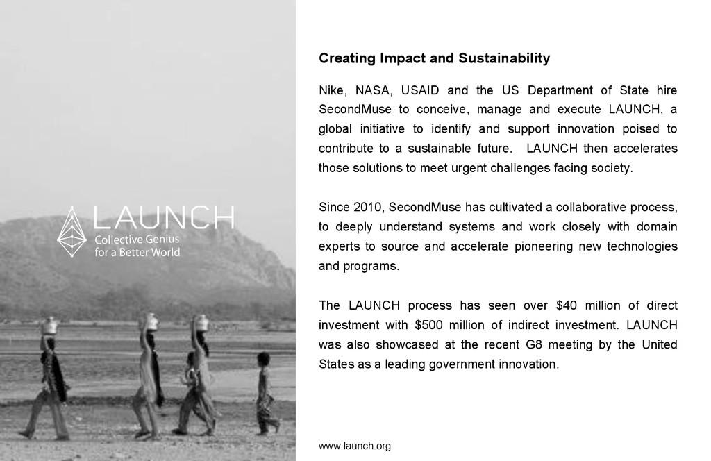 Creating Impact and Sustainability Nike, NASA, ...