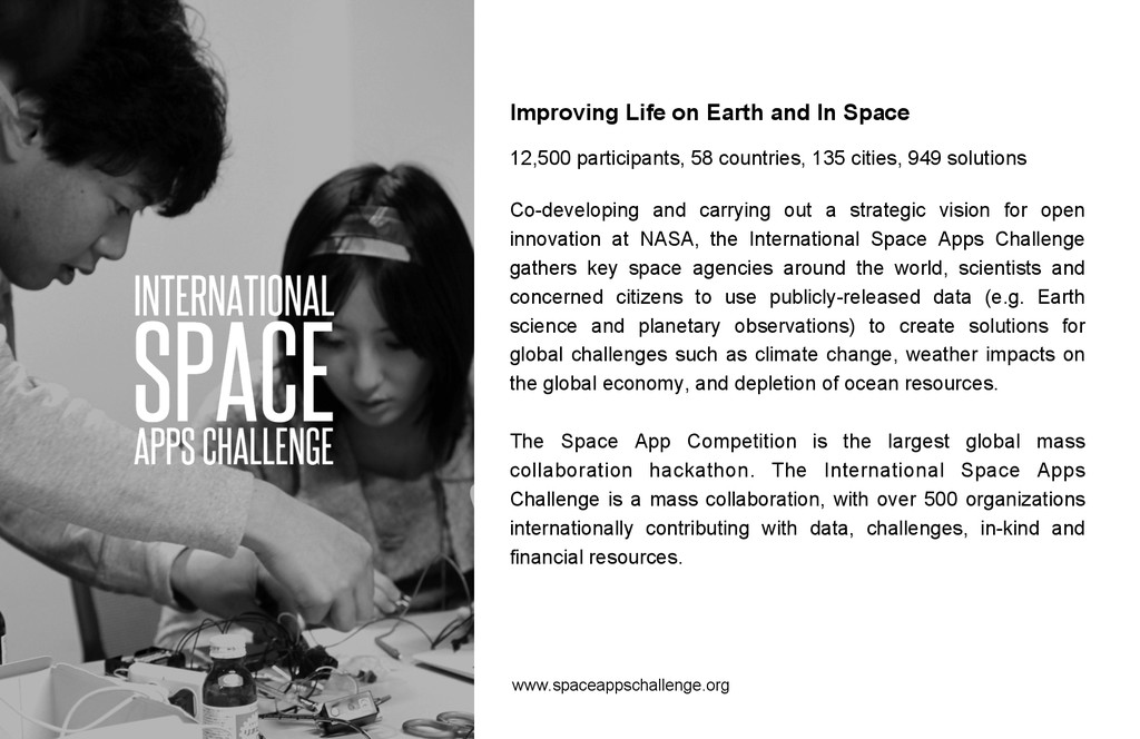 Improving Life on Earth and In Space 12,500 par...
