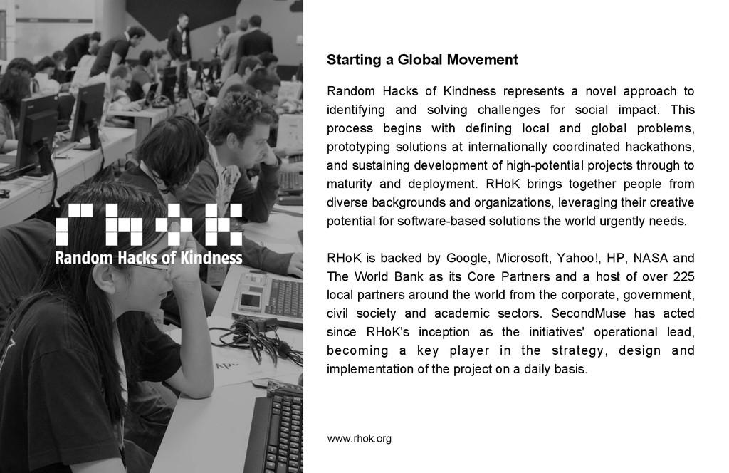 Starting a Global Movement Random Hacks of Kind...