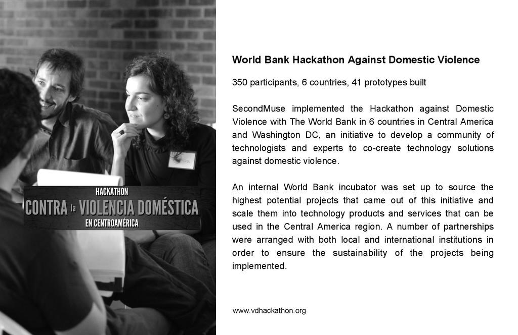 World Bank Hackathon Against Domestic Violence ...