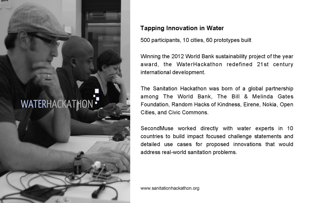 Tapping Innovation in Water www.sanitationhacka...