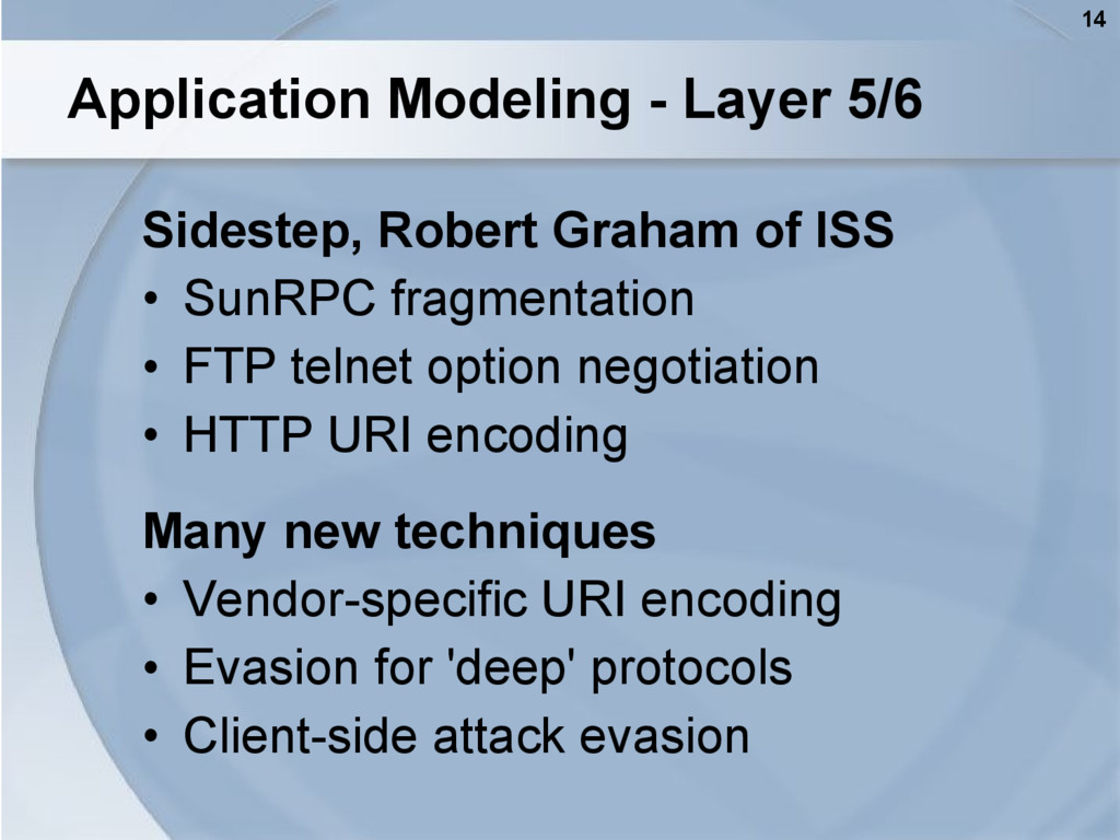 14 Application Modeling - Layer 5/6 Sidestep, R...
