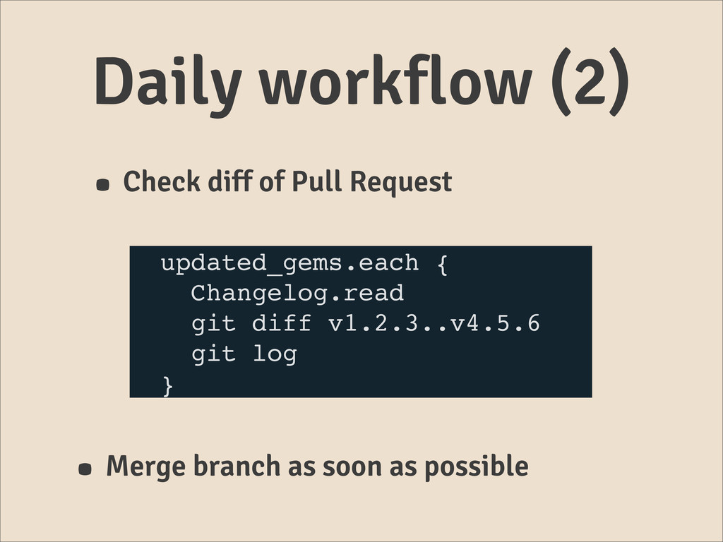 Daily workflow (2) • Check diff of Pull Request...