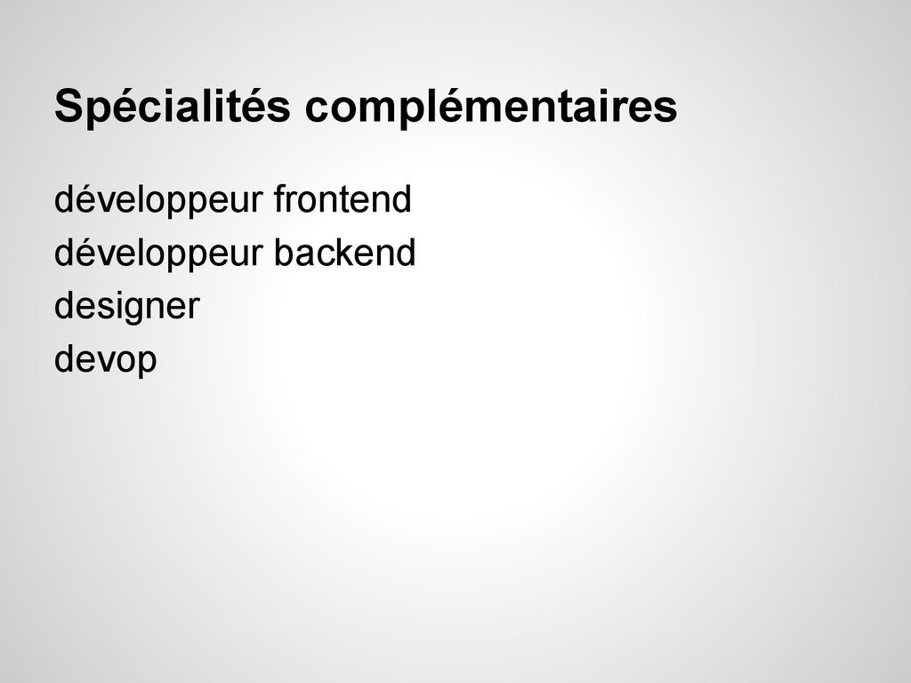 Spécialités complémentaires développeur fronten...
