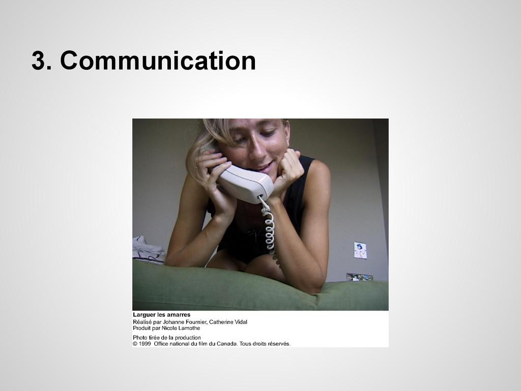 3. Communication