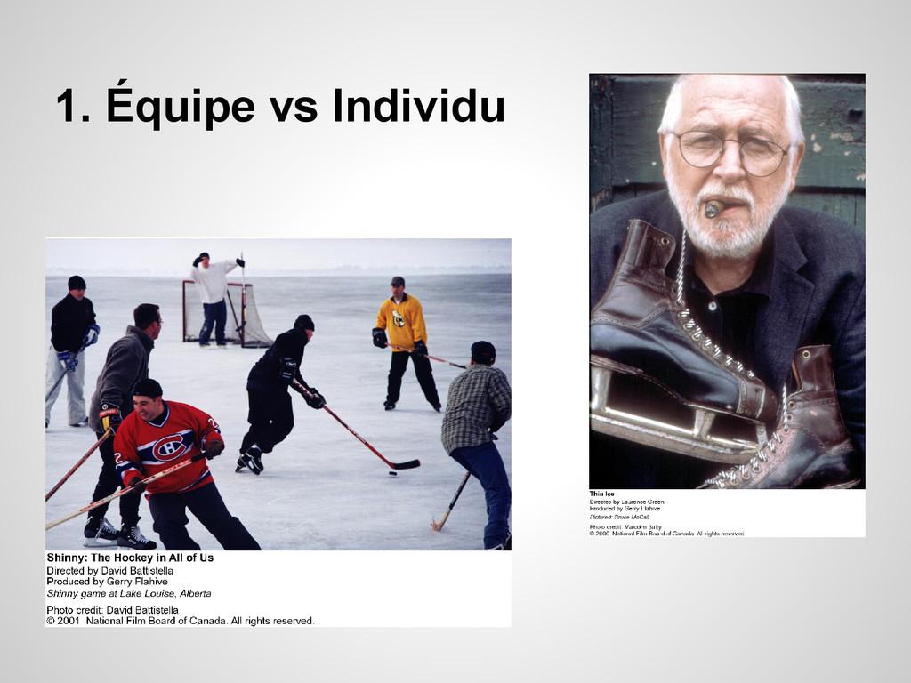 1. Équipe vs Individu