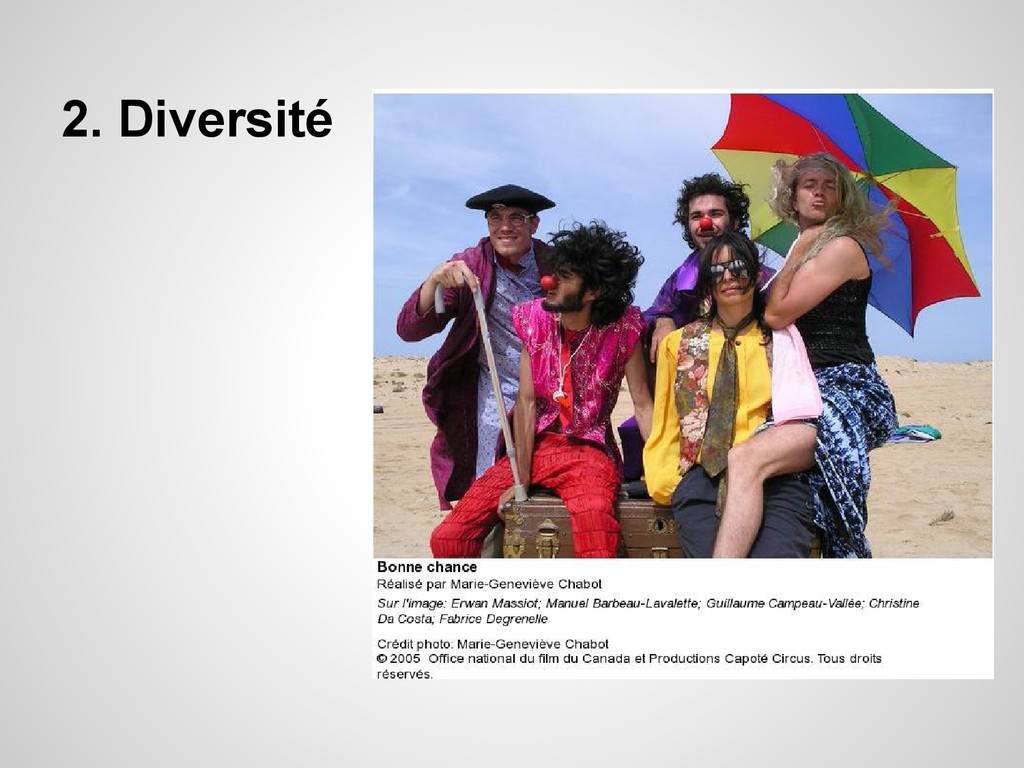 2. Diversité