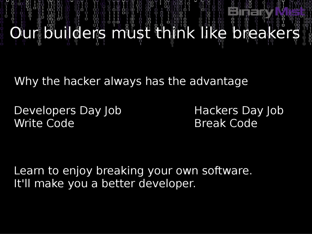 Why the hacker always has the advantage Learn t...