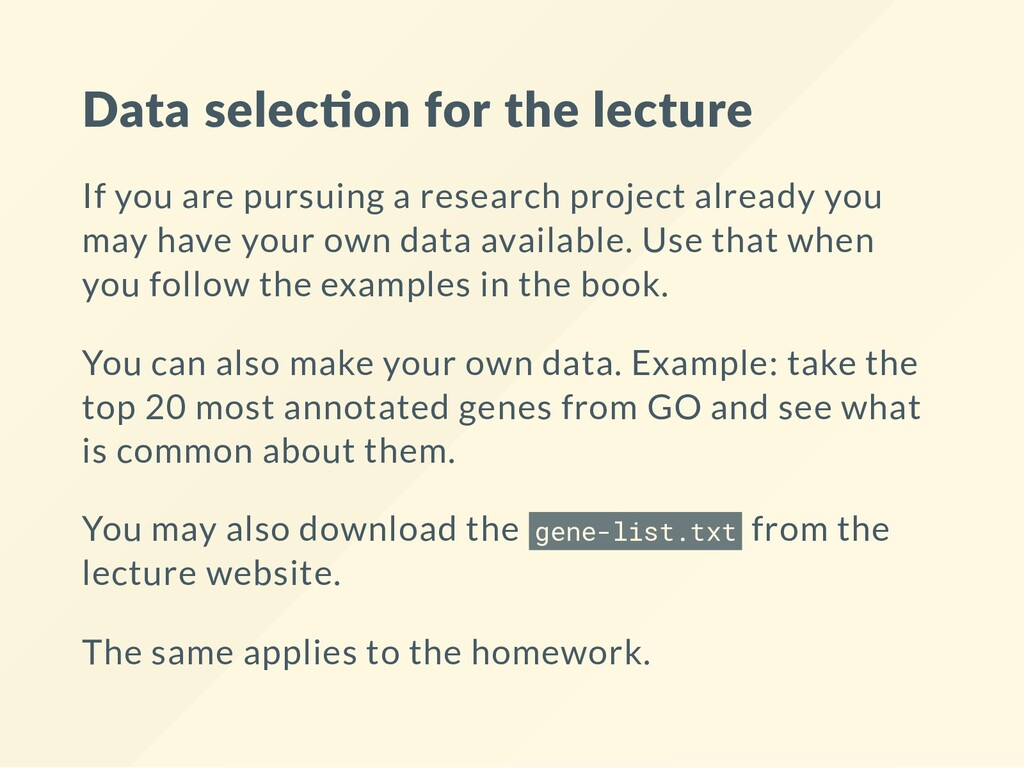 Data selec on for the lecture If you are pursui...
