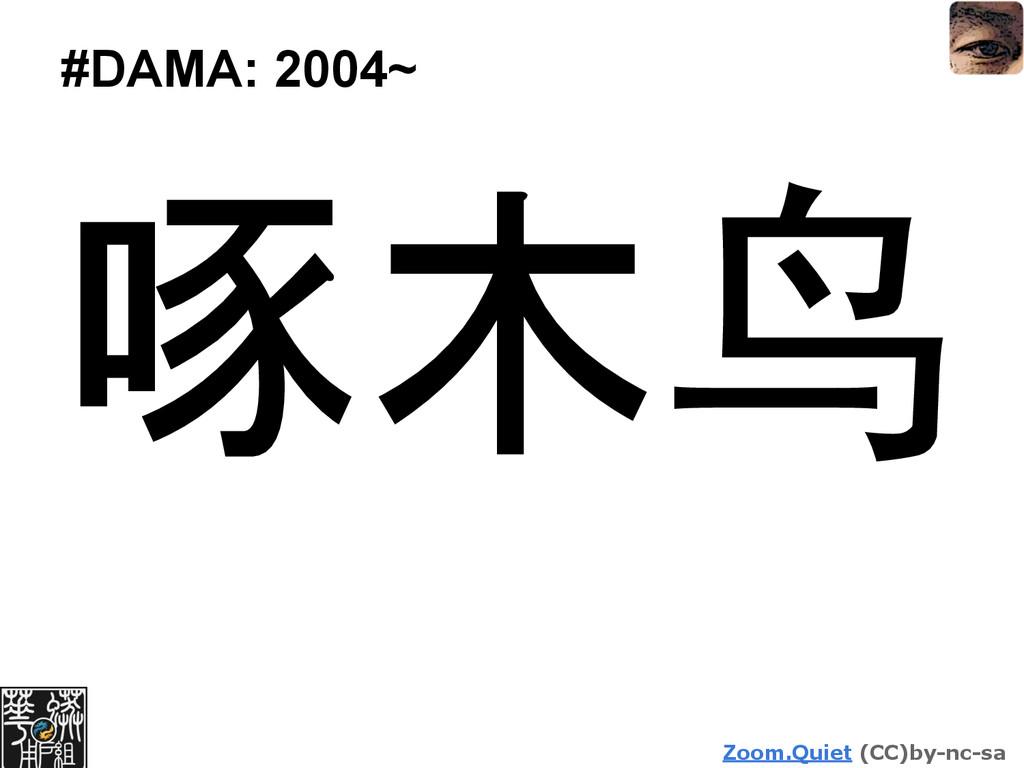 Zoom.Quiet (CC)by-nc-sa #DAMA: 2004~ 啄木鸟