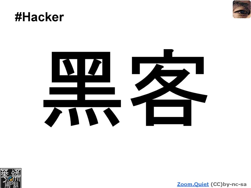 Zoom.Quiet (CC)by-nc-sa #Hacker 黑客