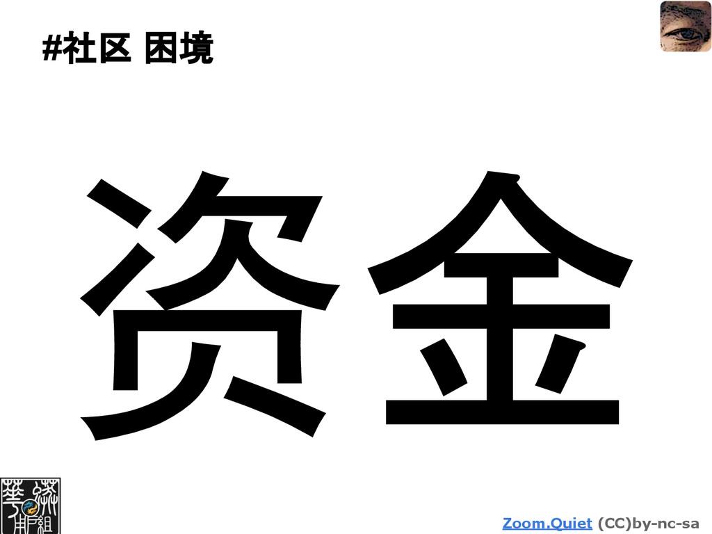 Zoom.Quiet (CC)by-nc-sa #社区 困境 资金