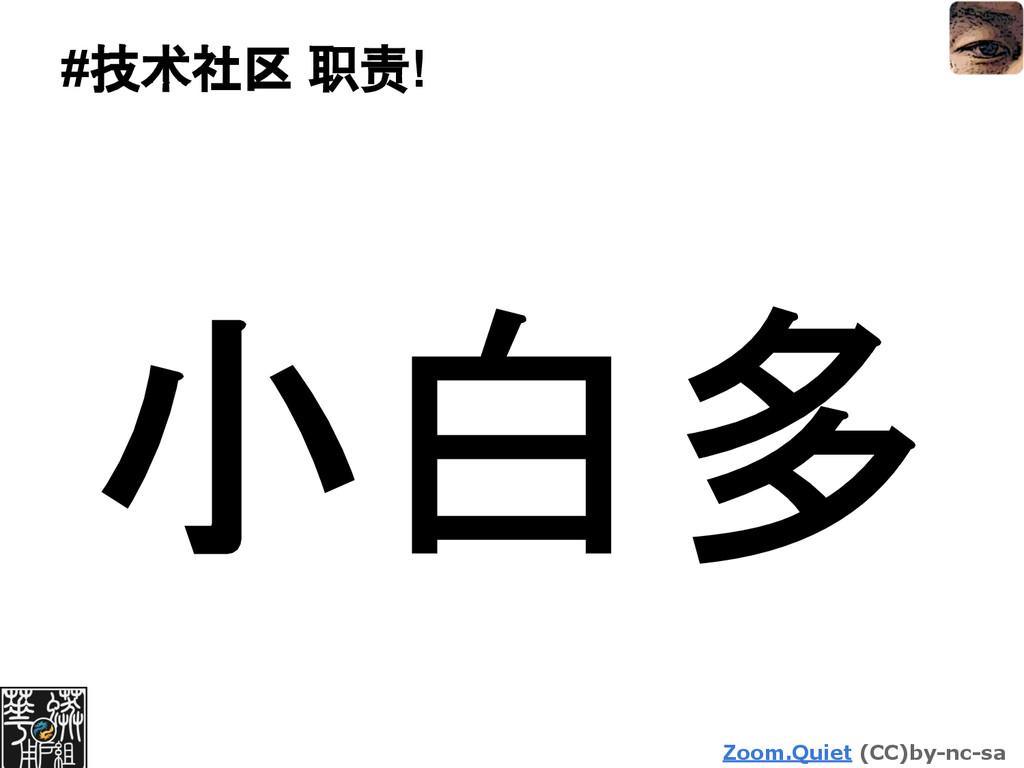 Zoom.Quiet (CC)by-nc-sa #技术社区 职责! 小白多