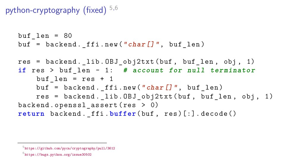 python-cryptography (fixed) 5,6 buf_len = 80 buf...