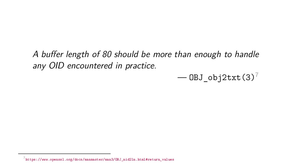 A buffer length of 80 should be more than enough...