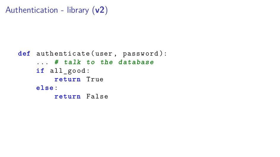 Authentication - library (v2) def authenticate(...