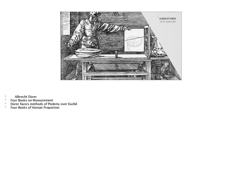 ALBRECHT DÜRER 15TH CENTURY * Albrecht Dürer * ...