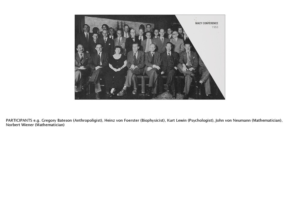 MACY CONFERENCE 1953 PARTICIPANTS e.g. Gregory ...