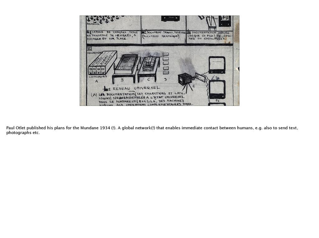 Paul Otlet published his plans for the Mundane ...