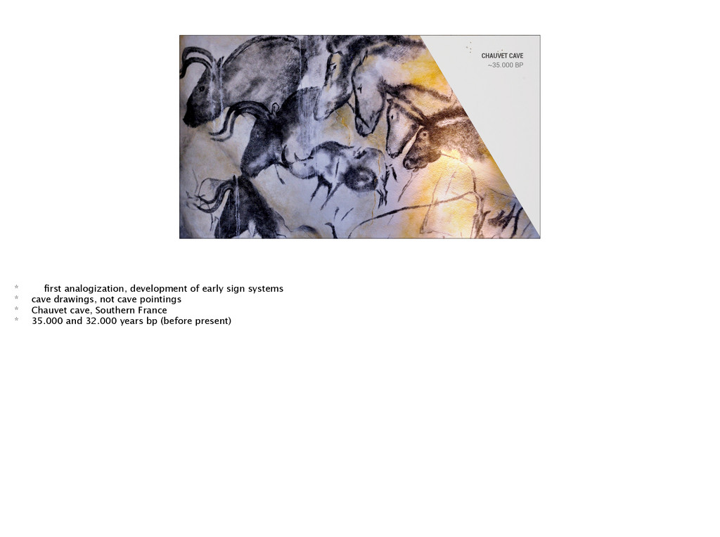 CHAUVET CAVE ~35.000 BP * first analogization, d...