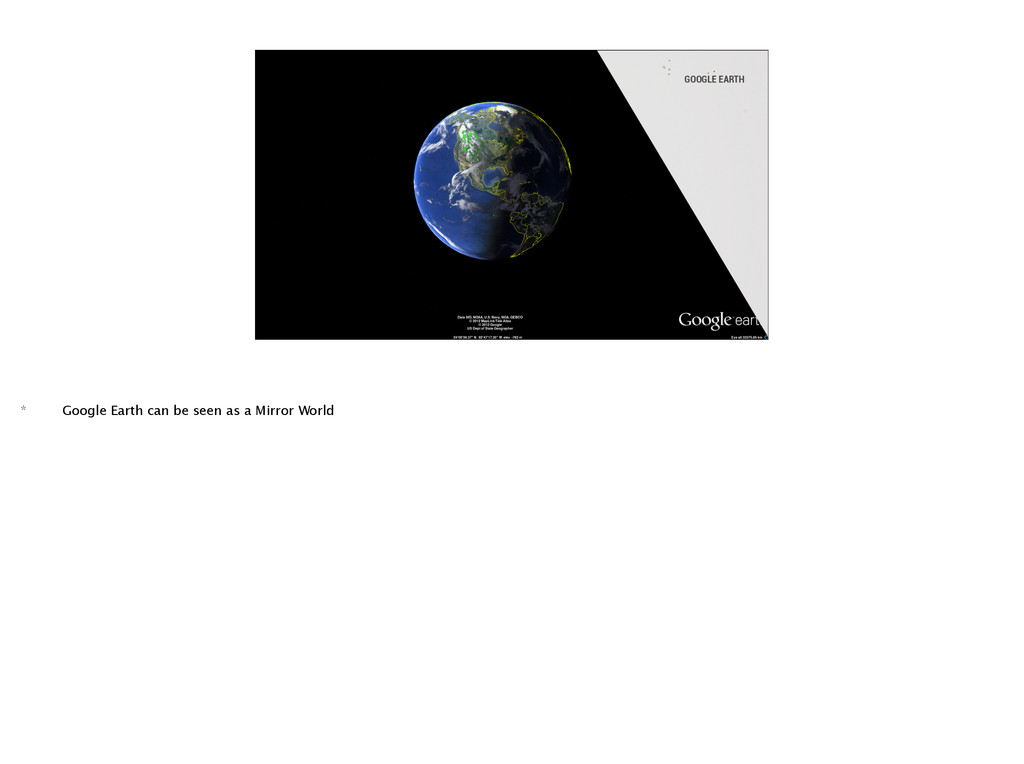 GOOGLE EARTH * Google Earth can be seen as a Mi...
